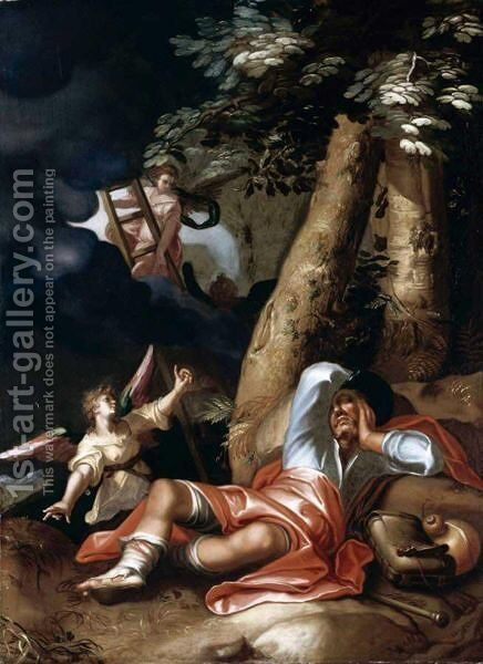 Jacob's Ladder by (after) Abraham Bloemaert - Reproduction Oil Painting