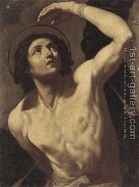 Saint Sebastian 6 by (after) Guido Reni - Reproduction Oil Painting