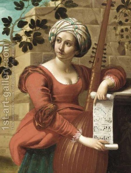 Personification Of Music by Emilian School - Reproduction Oil Painting