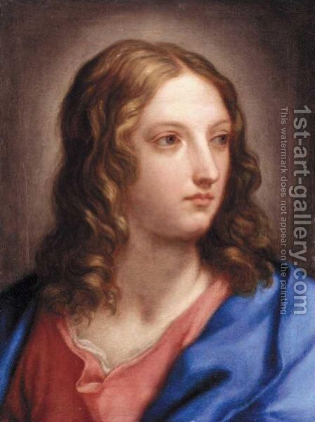 The Head Of A Young Man by (after) Bartolomeo Giuseppe Chiari - Reproduction Oil Painting
