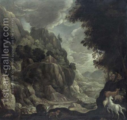 The Temptation Of Saint Anthony by (after) Jan Soens - Reproduction Oil Painting