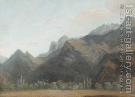 Mountainous Wooded Landscape by (after) Jean-Joseph-Xavier Bidauld - Reproduction Oil Painting