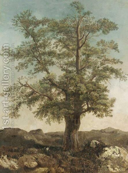 Study Of A Tree by Achille-Etna Michallon - Reproduction Oil Painting
