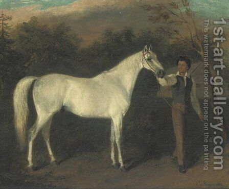 Johnson's Medley Held By Charles Steward by Edward Troye - Reproduction Oil Painting