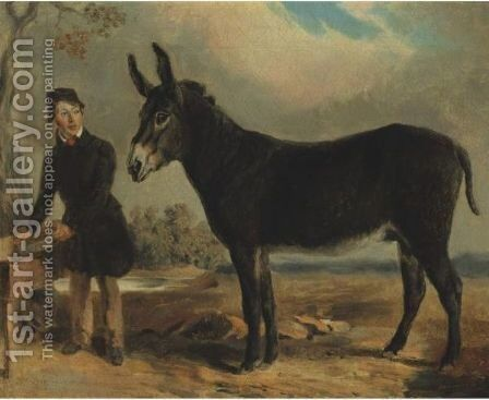 Spanish Jack With John M. Clay by Edward Troye - Reproduction Oil Painting