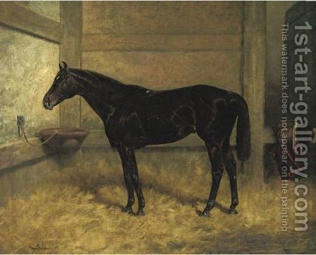 Hastings In A Stable by Henry Stull - Reproduction Oil Painting