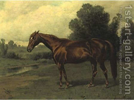Maggie B. B. by Henry Stull - Reproduction Oil Painting