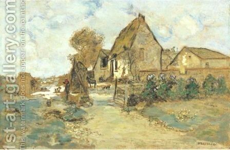 Cour De Ferme by Jean-Francois Raffaelli - Reproduction Oil Painting