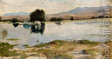Paysage Marin by Hippolyte Petitjean - Reproduction Oil Painting