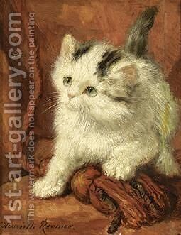 The Fly by Henriette Ronner-Knip - Reproduction Oil Painting