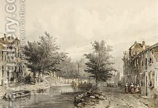 A View Of A Canal In Amersfoort by Jan Weissenbruch - Reproduction Oil Painting
