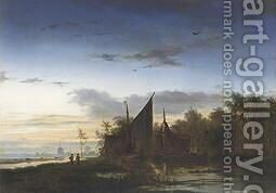Anglers Returning Home by Jacobus Theodorus Abels - Reproduction Oil Painting