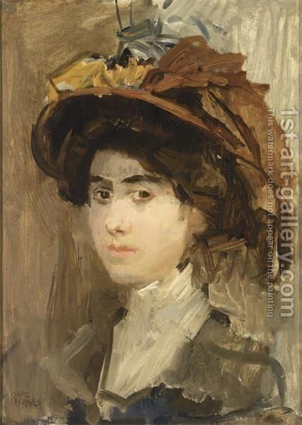 Portrait Of A Lady by Isaac Israels - Reproduction Oil Painting