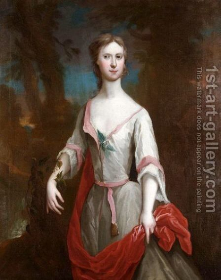 Portrait Of Jean Stirling by Jeremiah Davidson - Reproduction Oil Painting