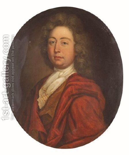 Portrait Of  A Gentleman 4 by (after) Kneller, Sir Godfrey - Reproduction Oil Painting