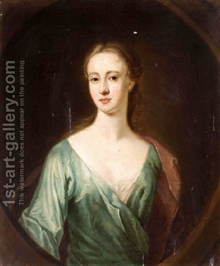 Portrait Of A Lady, Said To Be Mrs Mcfarlane, Daughter Of Lord Halbett Of Pitfirrane by (after) William Aikman - Reproduction Oil Painting