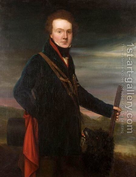 Portrait Of John Graham Of Duchray And Rednock by (after) George Watson - Reproduction Oil Painting