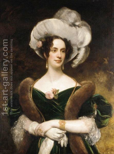 Portrait Of A Lady by (after) John Partridge - Reproduction Oil Painting
