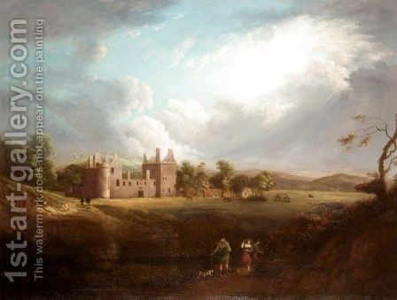 Edzell Castle, Scotland by (after) Sir Peter Lely - Reproduction Oil Painting