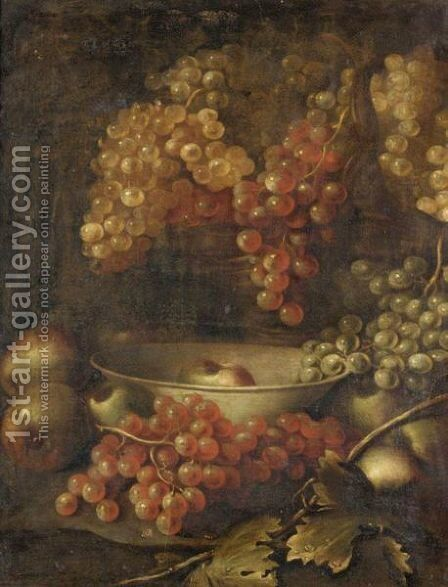 Still Life Of Grapes And Apples by (after) William Sartorius - Reproduction Oil Painting