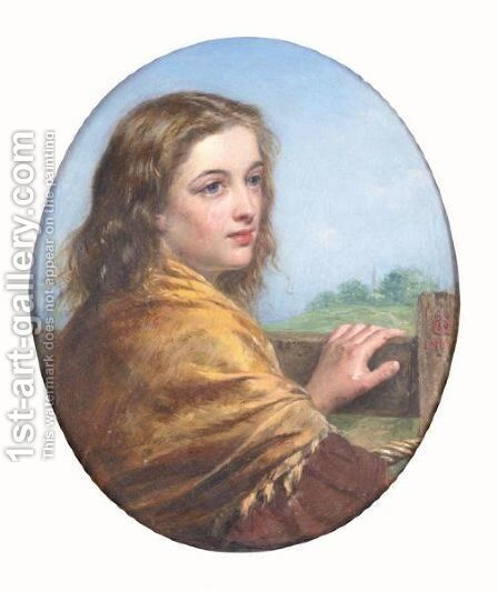 Girl With Shawl by Henry Nelson O'Neil - Reproduction Oil Painting