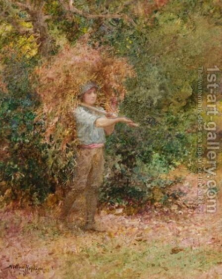 A Load Of Bracken by Arthur Hopkins - Reproduction Oil Painting