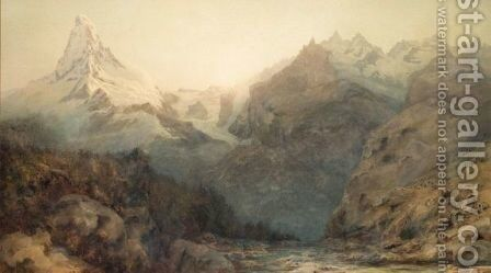 The Matterhorn At Dawn by Arthur Croft - Reproduction Oil Painting
