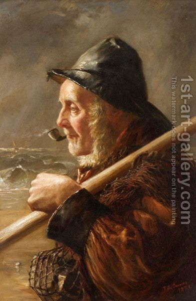 The Fisherman by T. S. Cousins - Reproduction Oil Painting