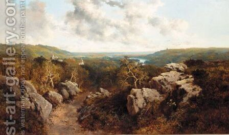 A Rocky Pathway by Edward H. Niemann - Reproduction Oil Painting