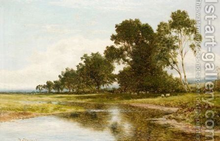 River Landscape by Daniel Sherrin - Reproduction Oil Painting