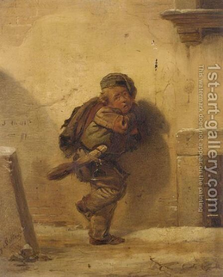 The Little Chimney Sweeper by Giuseppe Molteni - Reproduction Oil Painting