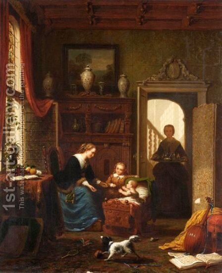 Playtime by Andrew Shearbon - Reproduction Oil Painting