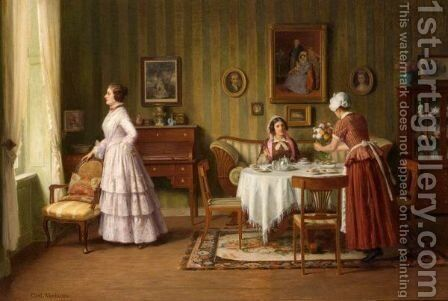 Tea Time by Carl Wendling - Reproduction Oil Painting
