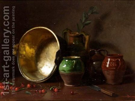 Kitchen Still Life by Jacques Delanoy - Reproduction Oil Painting