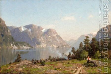 A Norwegian Fjord 4 by Adelsteen Normann - Reproduction Oil Painting