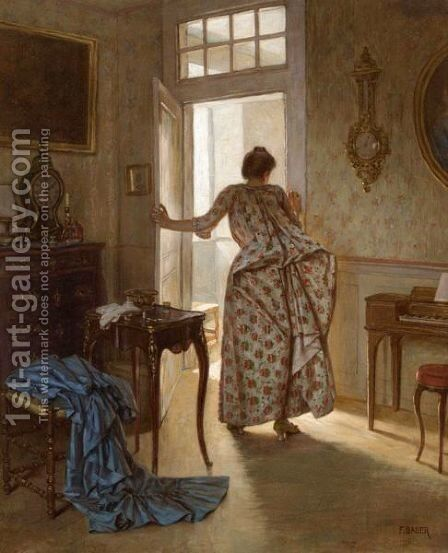 The Indiscretion by Auguste-Felix Bauer - Reproduction Oil Painting