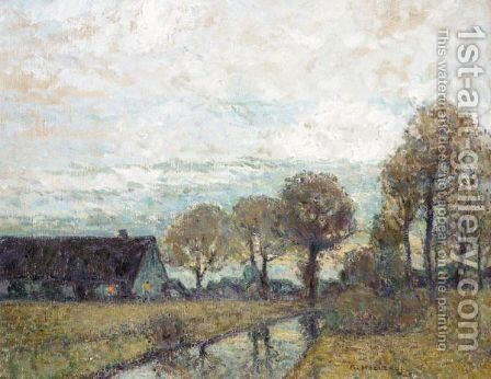 Autumn Landscape by Adolf Hoelzel - Reproduction Oil Painting
