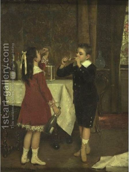 After The Party by Albert Roosenboom - Reproduction Oil Painting