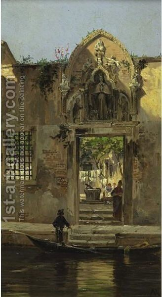 Arch At The Abbey Of The Misericordia, Venice by Antonietta Brandeis - Reproduction Oil Painting