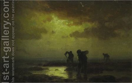 Clam Diggers by Edward Moran - Reproduction Oil Painting