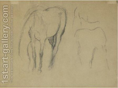 Etude De Cheval by Edgar Degas - Reproduction Oil Painting