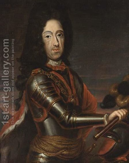 A Portrait Of Willem III by (after) Sir Peter Lely - Reproduction Oil Painting