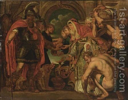 The Meeting Of Abraham And Melchizedek by (after) Sir Peter Paul Rubens - Reproduction Oil Painting