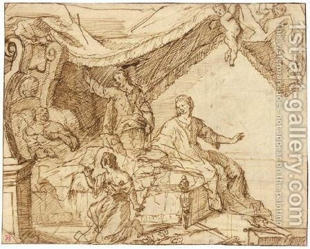 Antiochus And Stratonica (Plutarch 4338) by Dutch School - Reproduction Oil Painting
