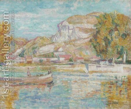 The Seine At Vernon Near Paris by Edgar Rowley Smart - Reproduction Oil Painting