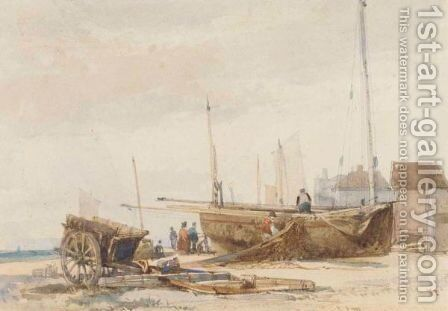 Hastings Beach by James Chisholm Gooden - Reproduction Oil Painting