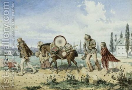 Gypsies Travelling by Alois Greil - Reproduction Oil Painting