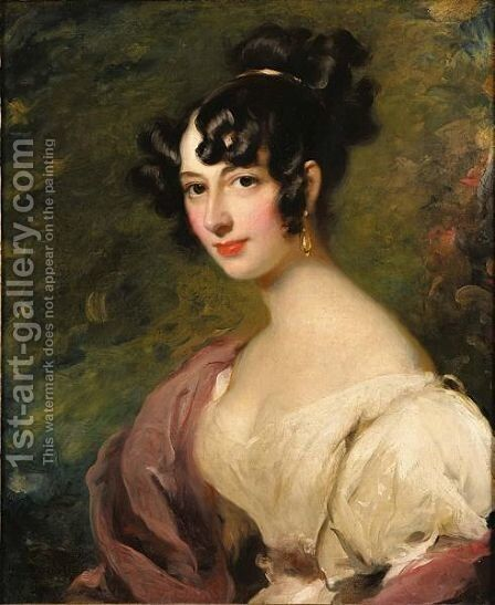 Portrait Of Princess Lieven by (after) George Henry Harlow - Reproduction Oil Painting