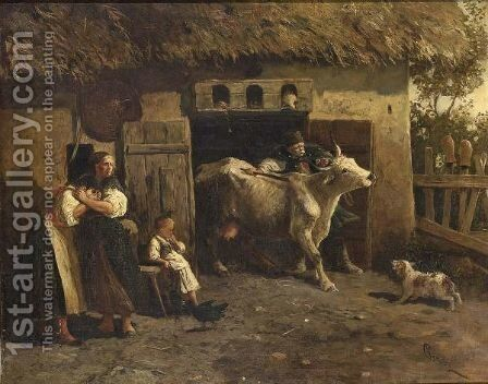 The Tax Collector by Hungarian School - Reproduction Oil Painting