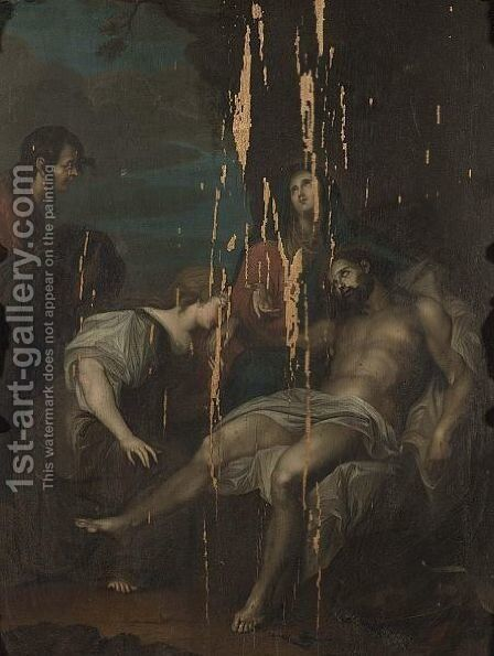 The Lamentation 4 by (after) Dyck, Sir Anthony van - Reproduction Oil Painting
